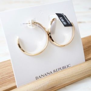 Banana Republic Hoop Earrings Gold